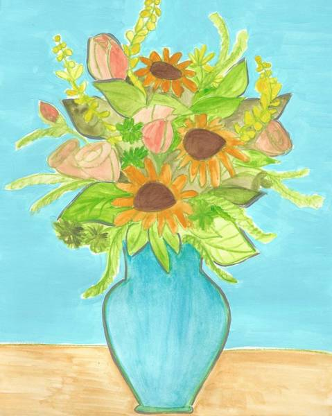 Painting - Sunflower Bouquet  by Monica Martin