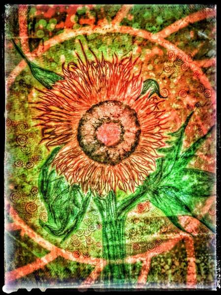 Mixed Media - Sunflower by Christine Paris