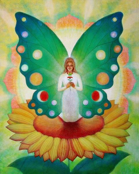 Wall Art - Painting - Sunflower Fairy by Sue Halstenberg