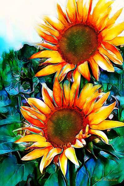 Digital Art - Sunflower Field by Pennie McCracken