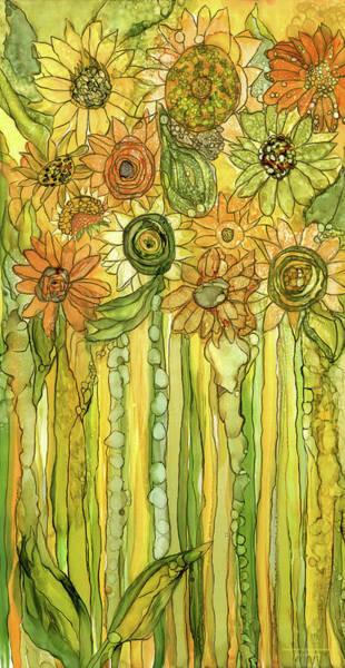 Mixed Media - Sunflower Garden Bloomies 2 by Carol Cavalaris