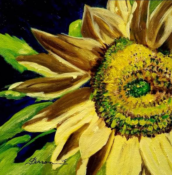 Art Print featuring the painting Sunflower Glow by Patti Ferron