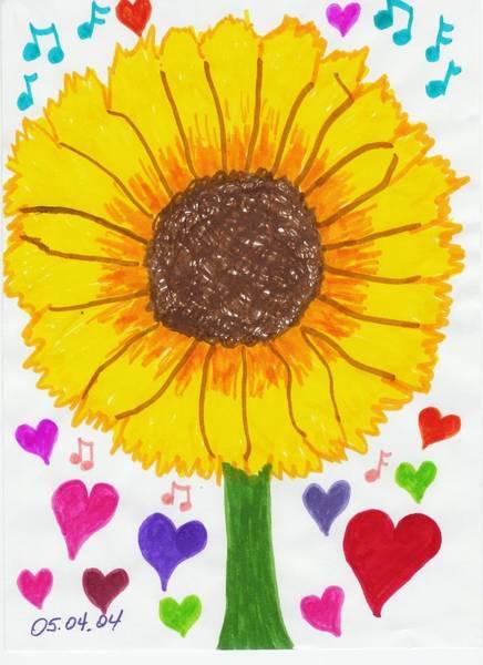 - Sunflower Heart by Susan Schanerman