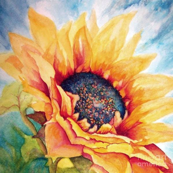 Golden Bloom Painting - Sunflower Joy by Janine Riley
