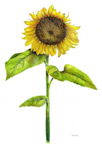 Single Wall Art - Painting - Sunflower by Patti Bishop