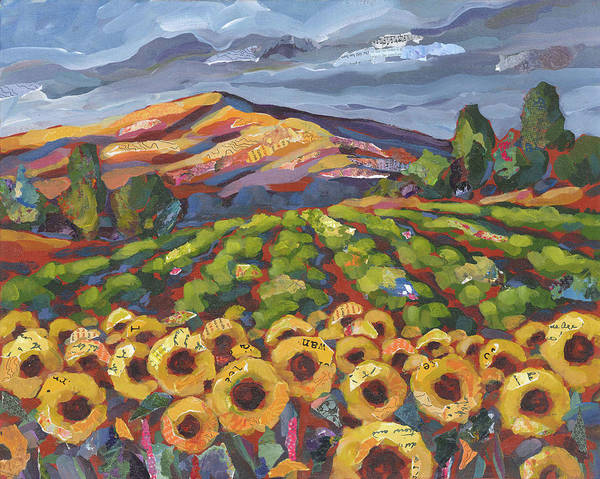 Painting - Sunflower Ranch by Shelli Walters