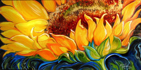 Painting - Sunflower Rise  by Marcia Baldwin