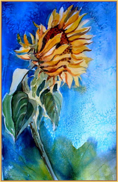 Wall Art - Painting - Sunflower Salute by Mindy Newman