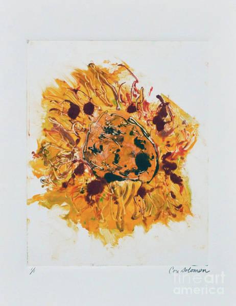 Eclipse Mixed Media - Sunflower Solar Eclipse by Cori Solomon