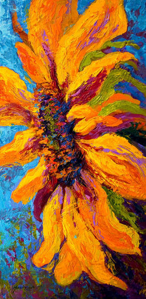 Tuscany Landscape Wall Art - Painting - Sunflower Solo II by Marion Rose
