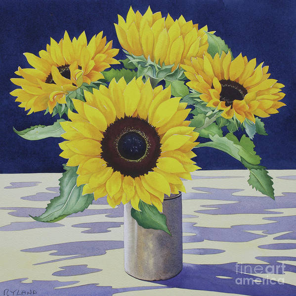 Wall Art - Painting - Sunflower Still Life by Christopher Ryland