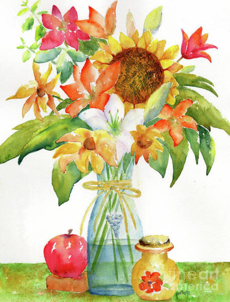 Painting - Sunflower Still Life by Pat Katz