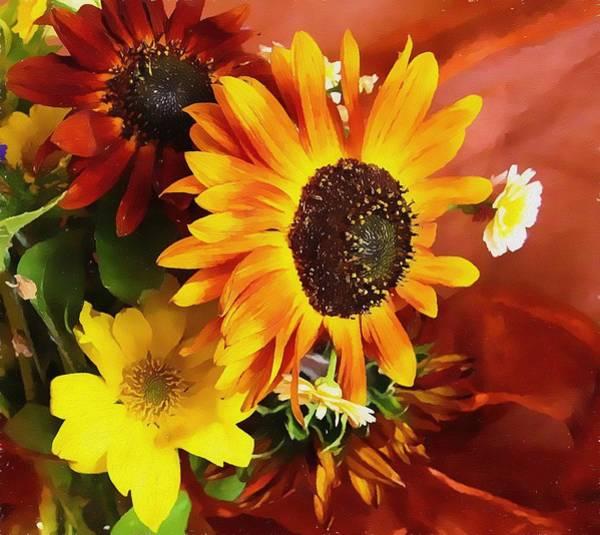 Wall Art - Photograph - Sunflower Strong by Kathy Bassett