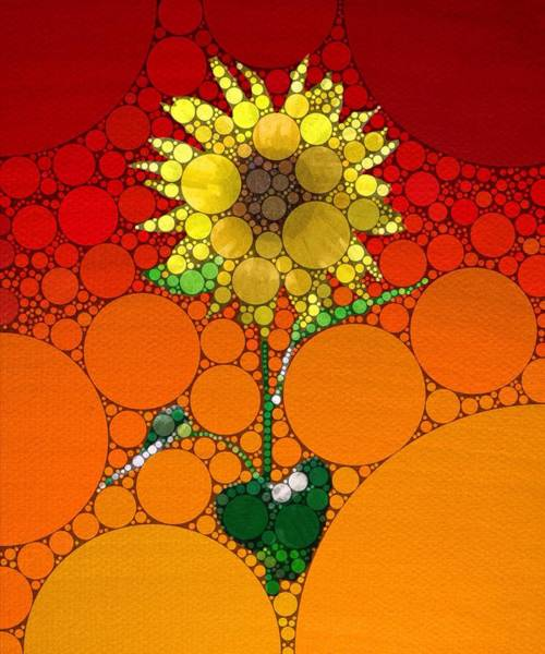Painting - Sunflower Summer Abstract by Mark Taylor