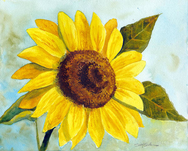 Wall Art - Painting - Sunflower Sunday by Susy Soulies