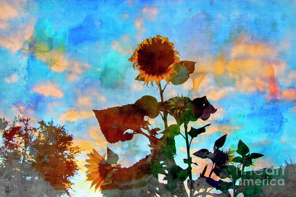 Wall Art - Photograph - Sunflower Watercolor by Al Bourassa
