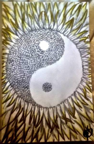Sunflower Seeds Drawing - Sunflower Zen by Kasandra Burns