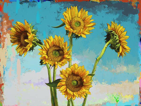 Wall Art - Painting - Sunflowers #6 by David Palmer