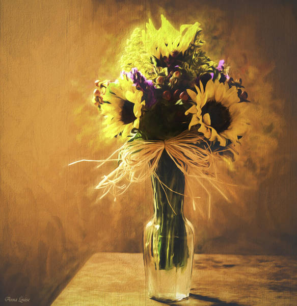 Photograph - Sunflowers Floral Still Life 2 by Anna Louise