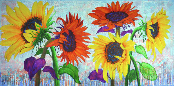 Painting - Sunflowers For Elise by Lisa Crisman
