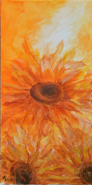 Wall Art - Painting - Sunflowers For Jo by Ann Loyd