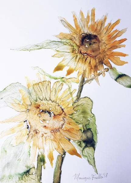 Painting - Sunflowers II Uncropped by Monique Faella