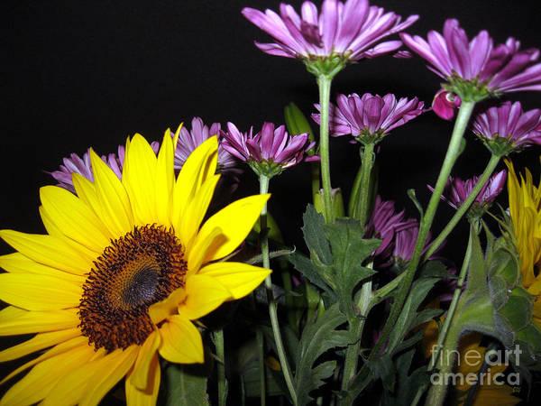 Painting - Sunflowers. Joyful Bouquet by Oksana Semenchenko