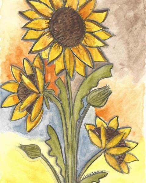 Painting - Sunflowers by Monica Martin
