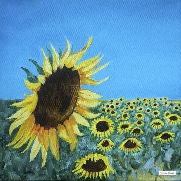 Painting - Sunflowers One by Jacqueline Hammond