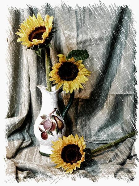 Fx Photograph - Sunflowers by Pat Exum