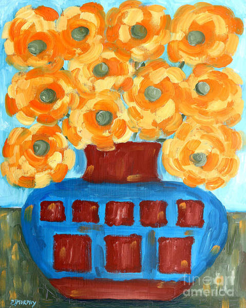 Floral Shower Curtain Painting - Sunflowers by Patrick J Murphy