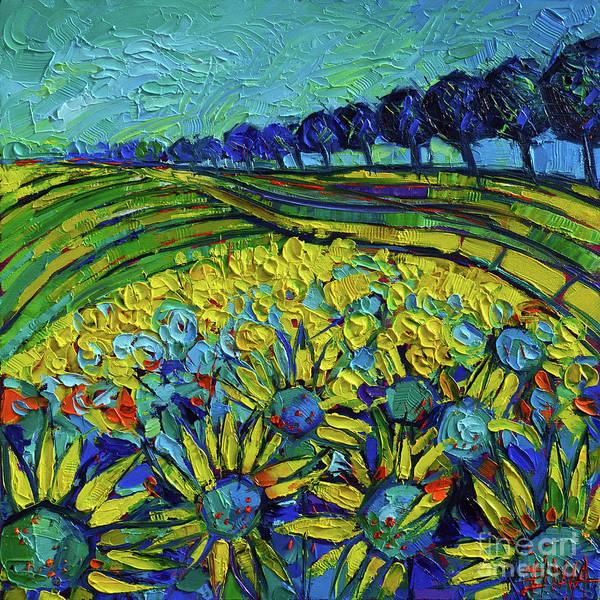 Wall Art - Painting - Sunflowers Phantasmagoria by Mona Edulesco