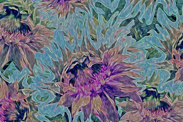 Digital Art - Sunflowers Rising 39 by Lynda Lehmann
