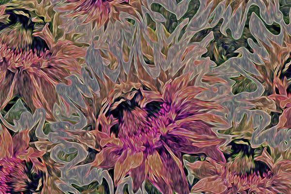 Digital Art - Sunflowers Rising 42 by Lynda Lehmann