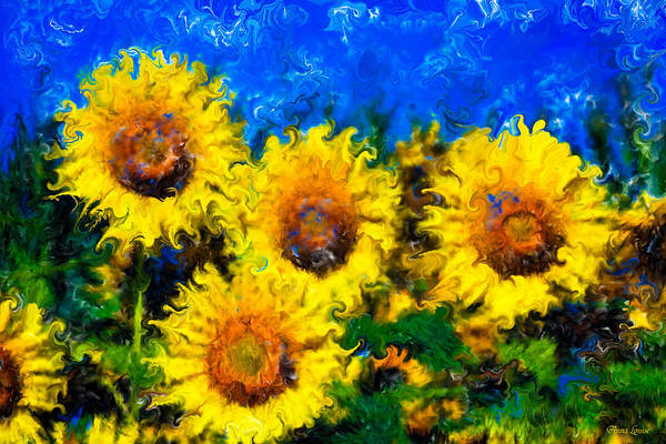 Photograph - Sunflowers Soul by Anna Louise