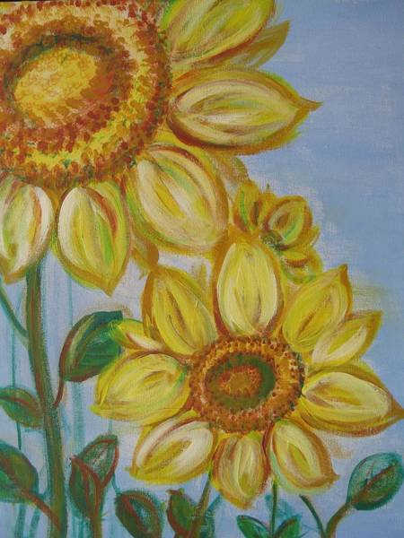 Wall Art - Painting - Sunflowers by Susan Brooks