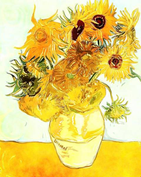 Sunflowers Van Gogh Art Print