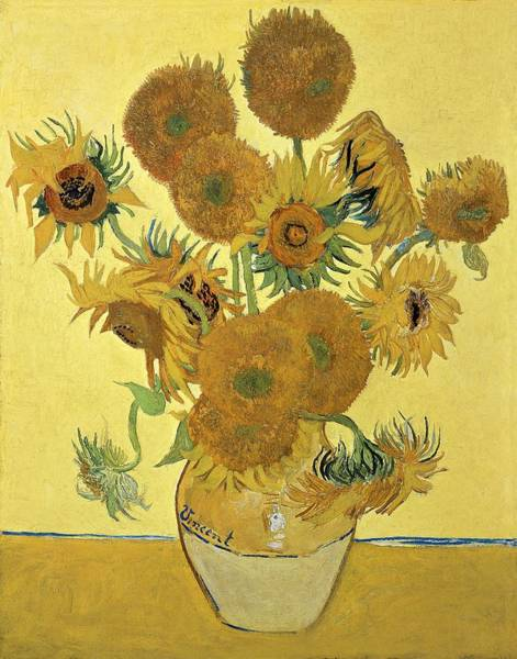 Bunch Painting - Sunflowers, 1888  by Vincent Van Gogh