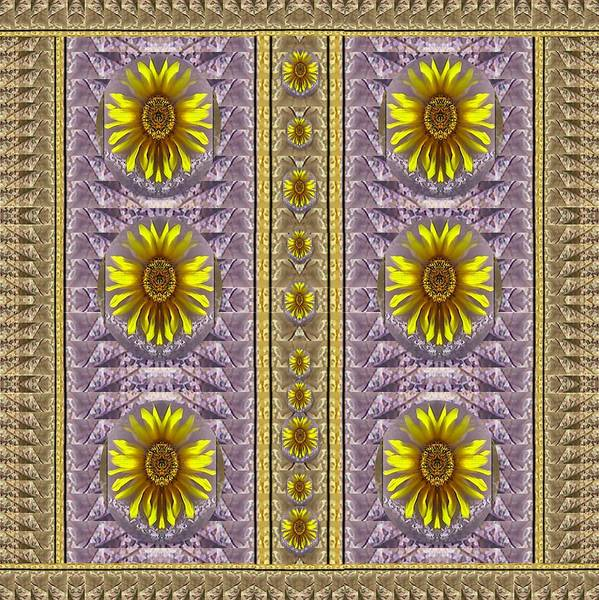 Fall Scenery Mixed Media - Sunflowers Vintage Lace In Joy And Harmonizing by Pepita Selles