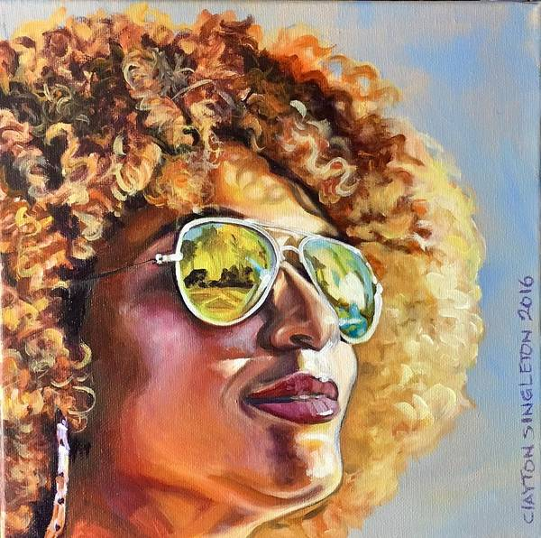 Wall Art - Painting - Sunglasses Fro Scene by Clayton Singleton