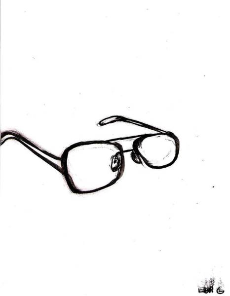Electronica Drawing - Sunglasses by Levi Glassrock