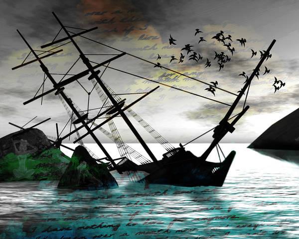 Shipwreck Digital Art - Sunk by Monroe Snook