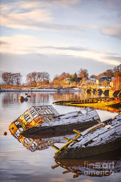 Clydebank Photograph - Sunken Boats by Sophie McAulay