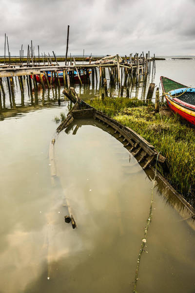 Wall Art - Photograph - Sunken Fishing Boat by Marco Oliveira