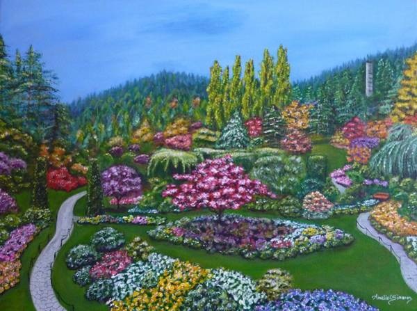 Painting - Sunken Garden by Amelie Simmons