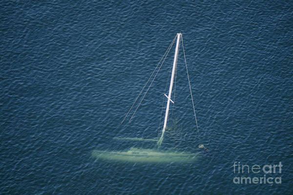 Photograph - Sunken Sailboat by Patrick M Lynch