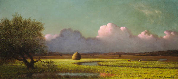 Painting - Sunlight And Shadow The Newbury Marshes by Martin Johnson Heade
