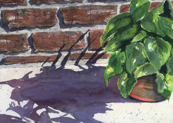 Brick Painting - Sunlight And Shadows by Marsha Elliott