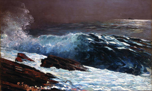 Painting - Sunlight On The Coast By Winslow Homer 1890 by Movie Poster Prints
