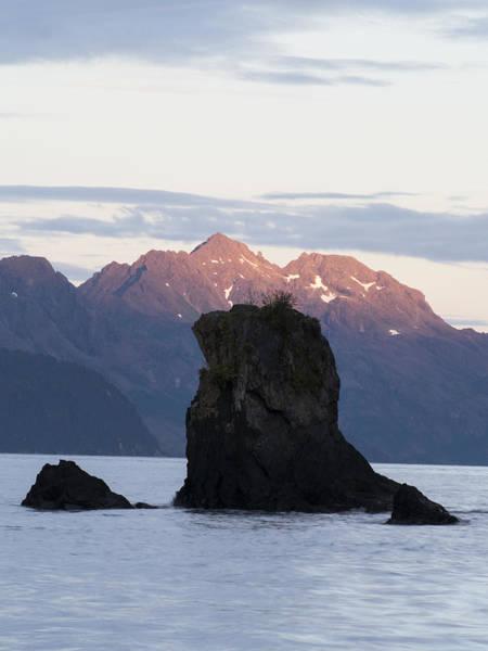 Photograph - Sunlight On The Far Peaks by Ian Johnson